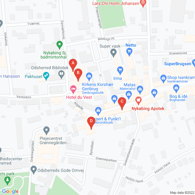 Genbrugsbutikker i Nykøbing Sj