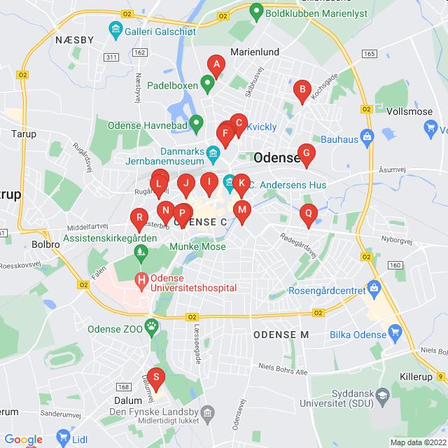 Genbrugsbutikker i Odense C