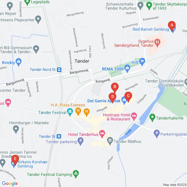Genbrugsbutikker i Tønder