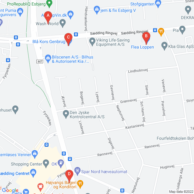 Genbrugsbutikker i Esbjerg V