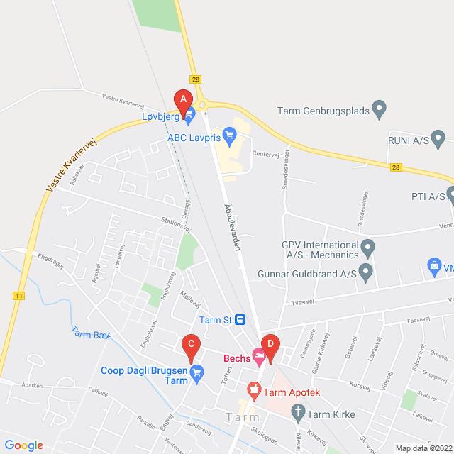 Genbrugsbutikker i Tarm