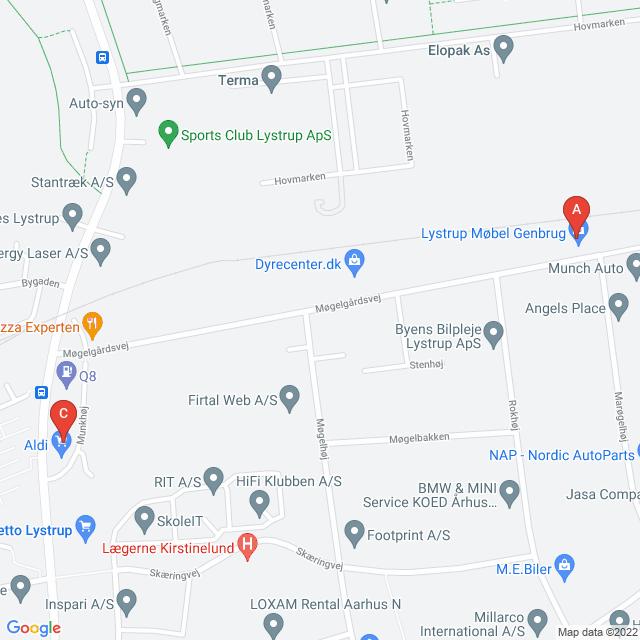 Genbrugsbutikker i Lystrup